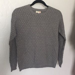 GB Gray Quilted Sweatshirt